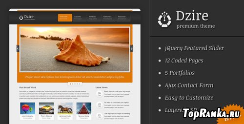 ThemeForest - Dzire - Business & Portfolio HTML/CSS Theme - RiP