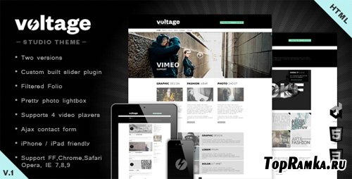 ThemeForest - Voltage - Minimalist Studio Html 5 Template - RiP