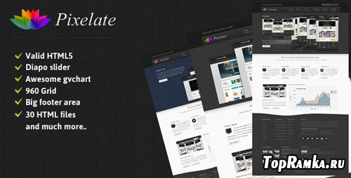 ThemeForest - Pixelate corporate website template - RiP