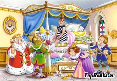 шаблон детский принцесса на горошине