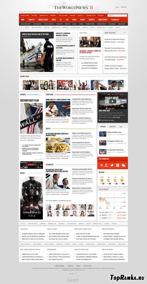 Gavick - The World News II v2.6j For Joomla 2.5 - Retail