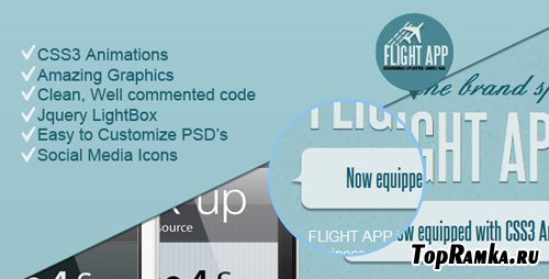 ThemeForest - Flight App - Premium Landing Page - RiP