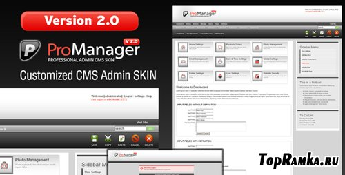 ThemeForest - ProManager v2.0 Customized Admin CMS Skin!