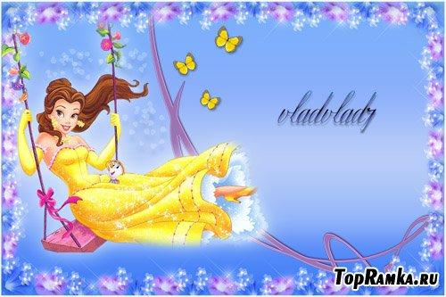 Фоторамка для девочек - Принцесса Белль