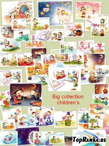 Большая коллекция детских многослойных PSD