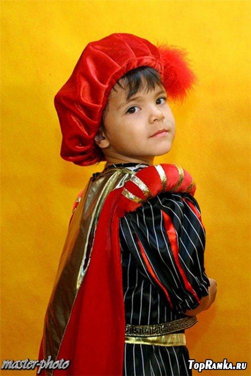 Шоблон детский для фотошопа - Маленький паж