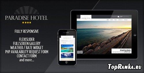 ThemeForest - Responsive Paradise Hotel - RiP