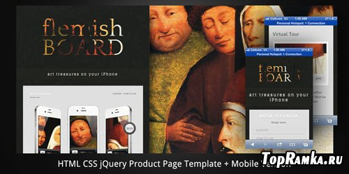 ThemeForest - Flemish Board–HTML5 Product Page+Mobile Version - RIP