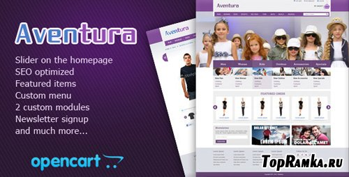 ThemeForest - Aventura eCommerce Theme v1.0 for OpenCart 1.5.1.3 (FULL)