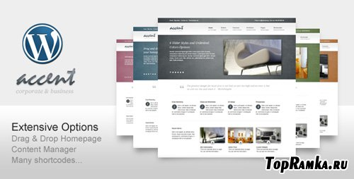 ThemeForest - Accent Clean for Business Corporate Portfolio v1.6 for Wordpress 3.x