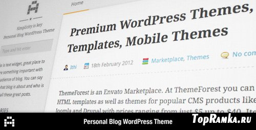 ThemeForest - A - Personal Blog Theme v1.2 for Wordpress 3.x