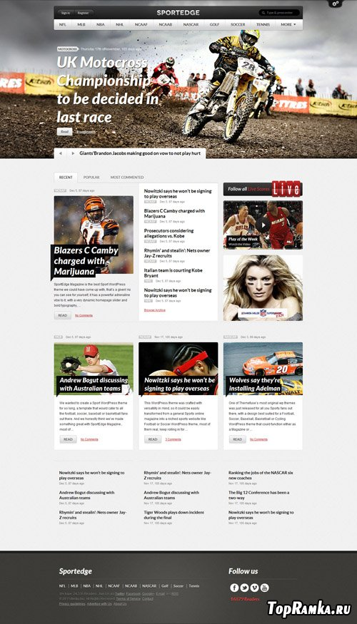 ThemeFuse - SportEdge Magazine v1.0.1 -  WordPress Theme