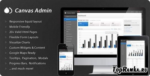 ThemeForest - Canvas Admin - Premium responsive admin template - RiP