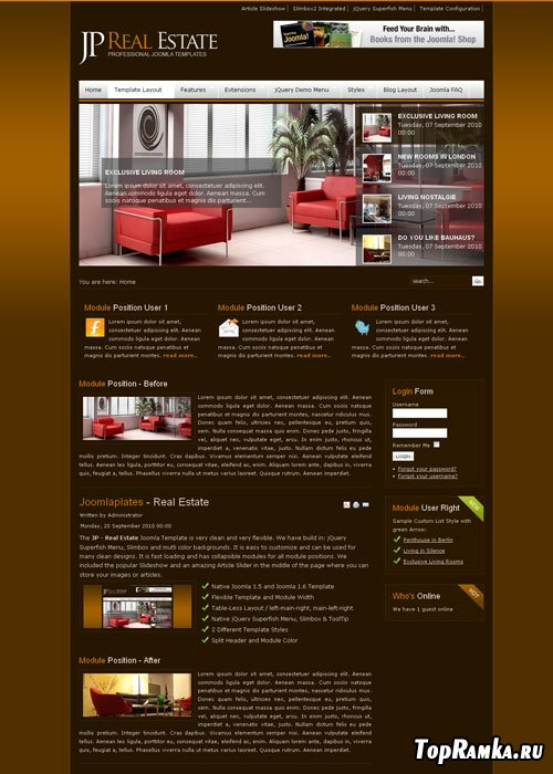 JoomlaPlates - Real Estate for Joomla 1.5 - 2.5