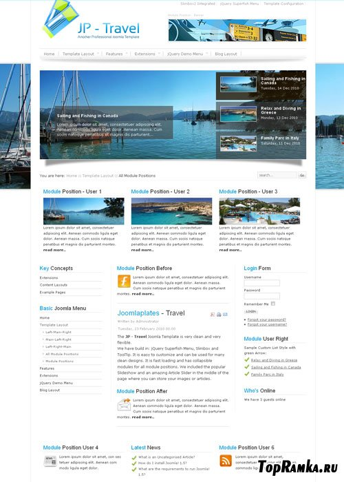 JoomlaPlates - Travel for Joomla 1.5 - 2.5
