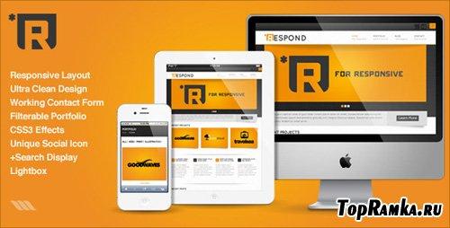 ThemeForest - Respond HTML - Rip