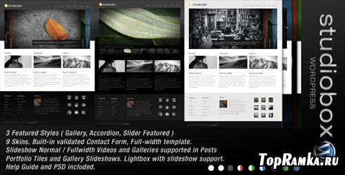 ThemeForest - Studio Box Premium Wordpress 9 in 1 - V1.4
