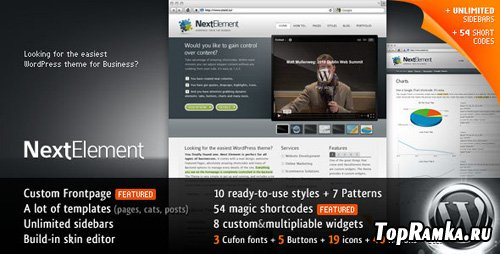 ThemeForest - NextElement - Business WordPress Theme V1.0
