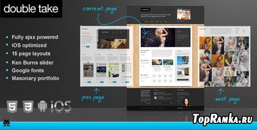 ThemeForest - Doubletake Ajax HTML5 Portfolio Business Template - Rip