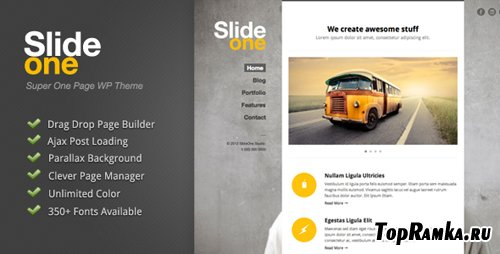 ThemeForest - Slide One v1.0.2 - One Page Parallax, Ajax WP Theme - Retail