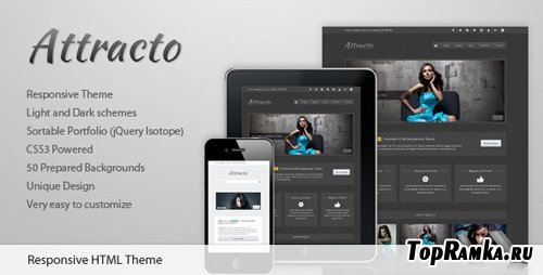 ThemeForest - Attracto - HTML Responsive Theme - RIP