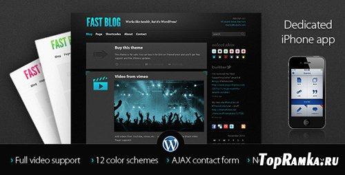 ThemeForest - Fast Blog v1.5 for Wordpress 3.x