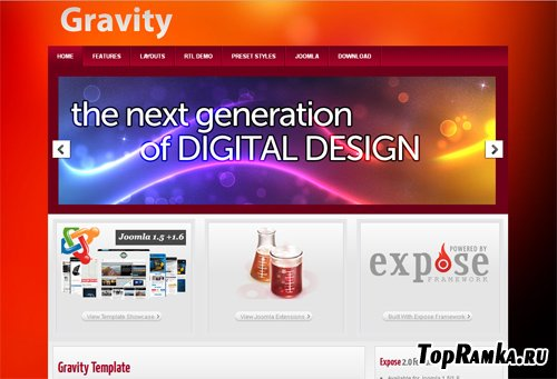 ThemeXpert - Gravity - Joomla 1.5-2.5 template