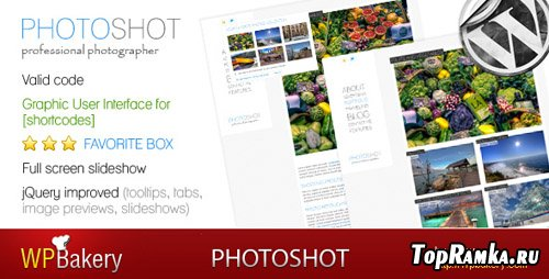 ThemeForest - Photoshot - photo blog-portfolio WP v1.4