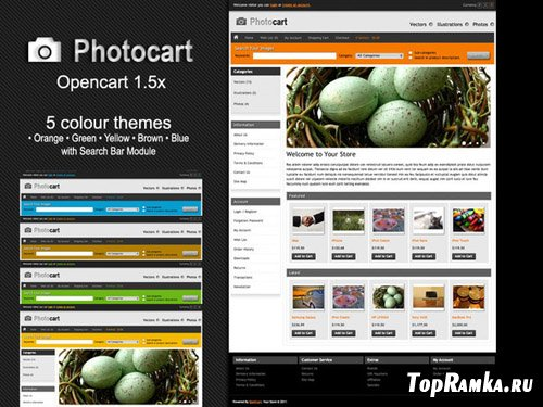 ThemeForest - PhotoCart - Premium Theme v1.0 for OpenCart 1.5.1.3