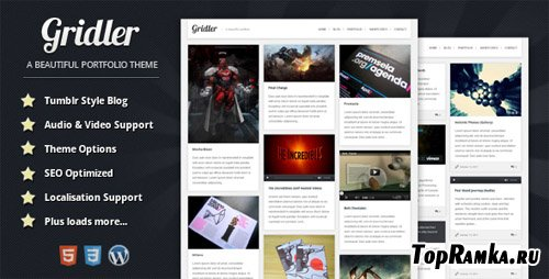 ThemeForest - Gridler v1.1 - WordPress Portfolio Theme