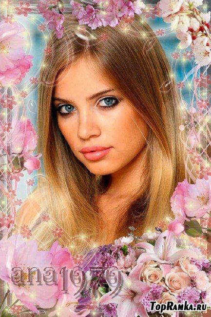 Рамка для фотошопа – Нежность весны