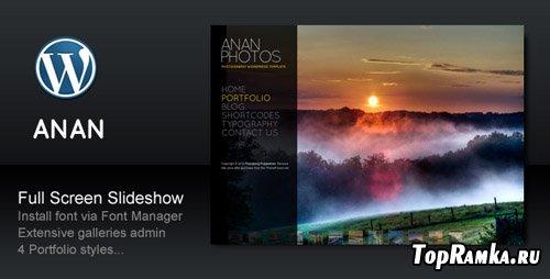 ThemeForest - ANAN v2.4 - Photography Creative Portfolio