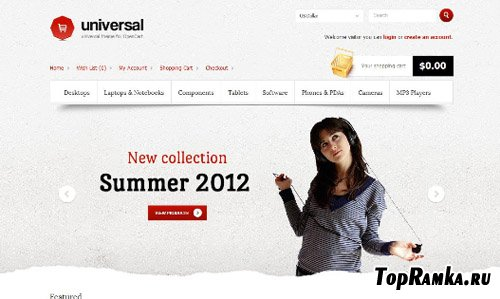 ThemeForest - Universal - Premium Theme v1.1.0 for OpenCart 1.5.2.1