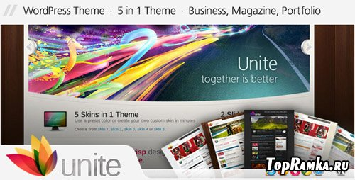 ThemeForest - Unite v2.0.1 - Wordpress Business Magazine Theme