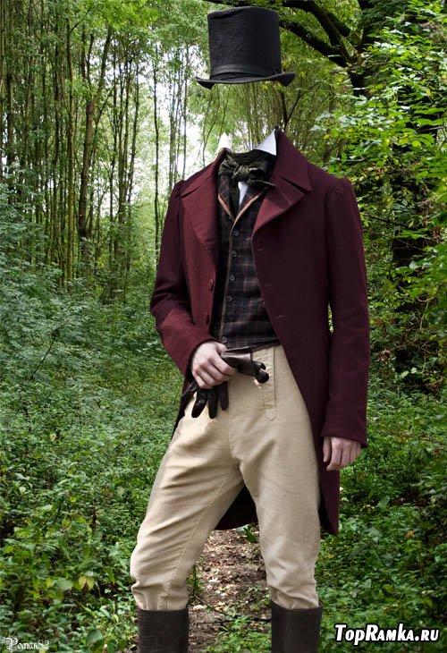 Шаблон для фотомонтажа - старинный костюм 51