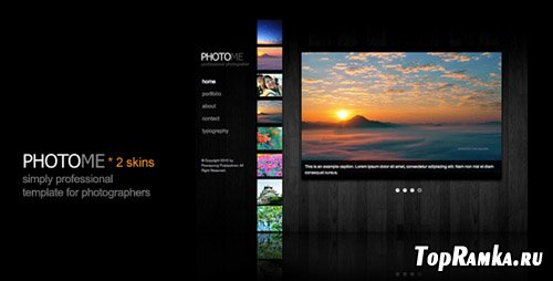 ThemeForest - PHOTOME - photography and portfolio template - RETAIL (reuploaded)