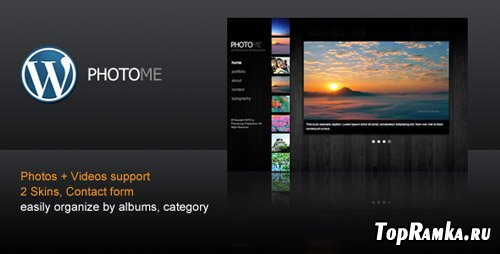 ThemeForest - PhotoMe - Photography and portfolio WordPress Theme (reuploaded)