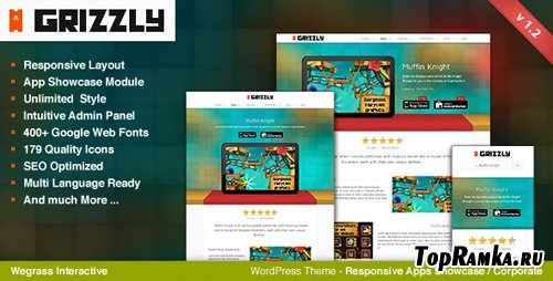ThemeForest - Grizzly - Responsive App Showcase / Corporate v1.2.1 for Wordpress 3.x
