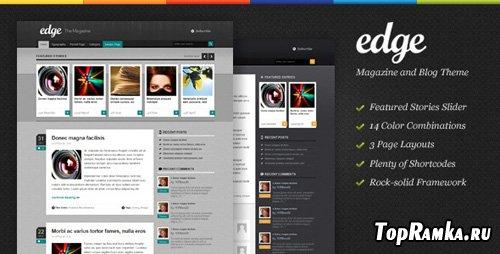 ThemeForest - Edge - Magazine & Blog Theme v1.3.1 for Wordpress 3.x