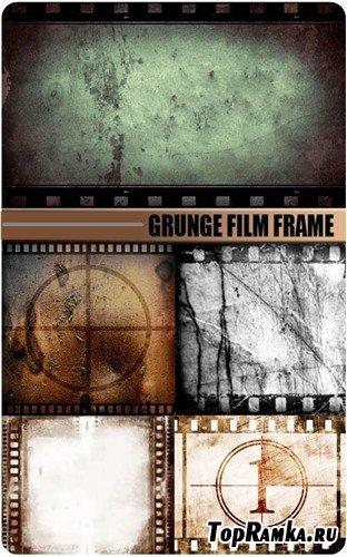 Кадры старой кинопленки - гранжевые фоны