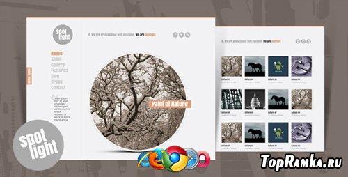 ThemeForest - Spotlight - Clean & Minimal Website Template - RiP