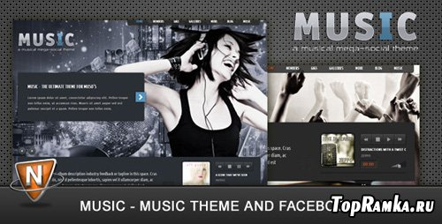 ThemeForest - Music: Musicians Theme v1.2 for Wordpress 3.x & Facebook app