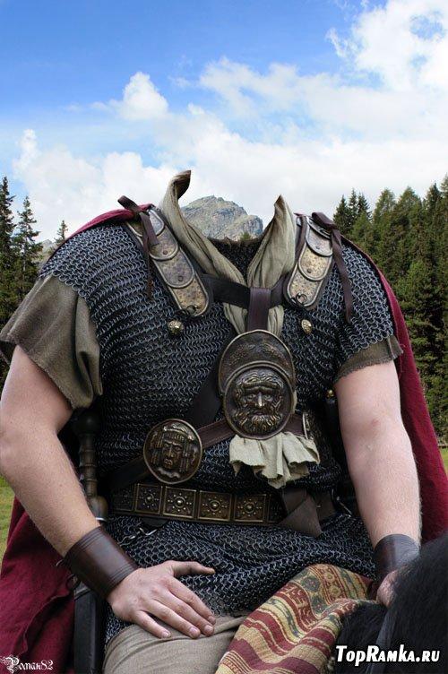 Шаблон для фотомонтажа - римский легионер