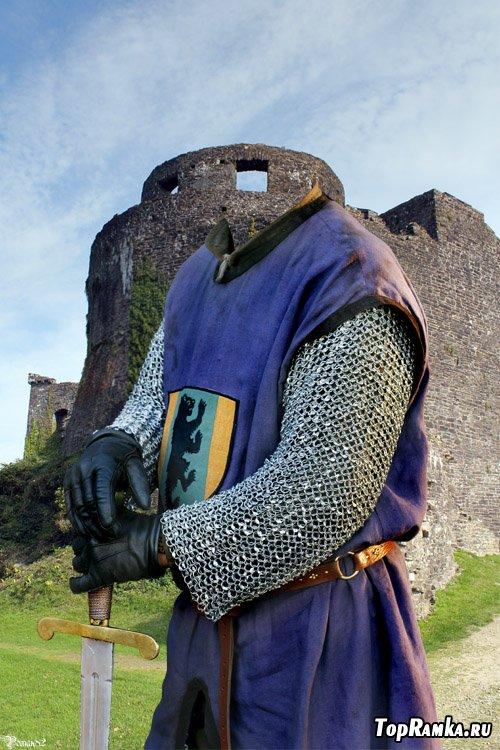Шаблон для фотомонтажа - рыцарь