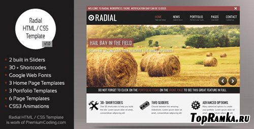 ThemeForest - Radial - Blog HTML / CSS Website Template - Rip