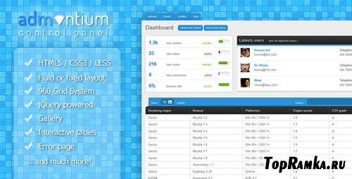 ThemeForest - Admantium - Premium Admin Panel - Rip