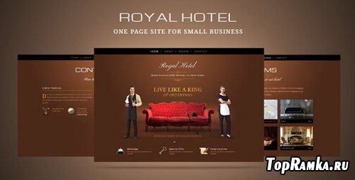 ThemeForest - Luxury hotel or small business one page template - RiP