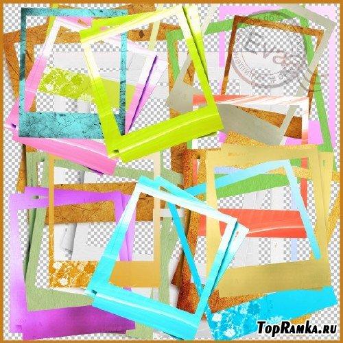 Клипарт - Вырезы для рамок - полароид