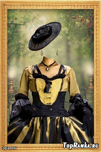 Женский шаблон для фотошопа – Королевская особа
