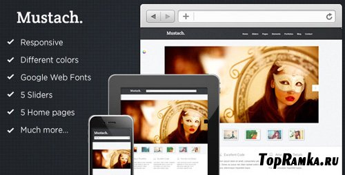 ThemeForest - Mustach - Responsive Html5 Theme - Rip
